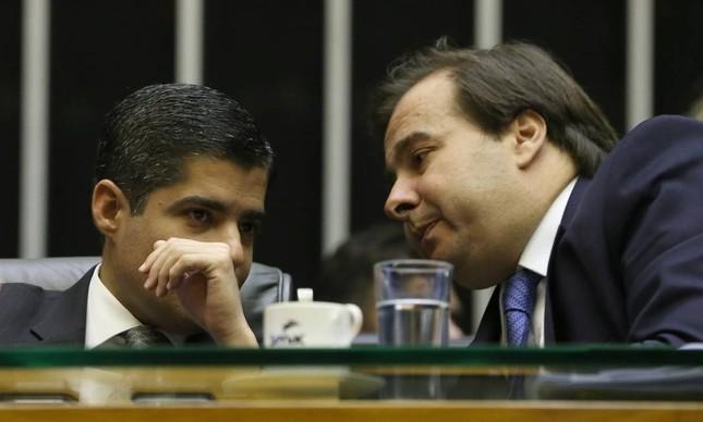 O ex-prefeito de Salvador, ACM Neto, e o ex-presidente da Câmara, Rodrigo Maia