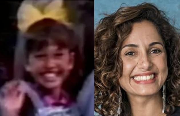 Camila Pitanga também trabalhou como assistente de palco da Angélica na TV Manchete  (Foto: Reprodução)