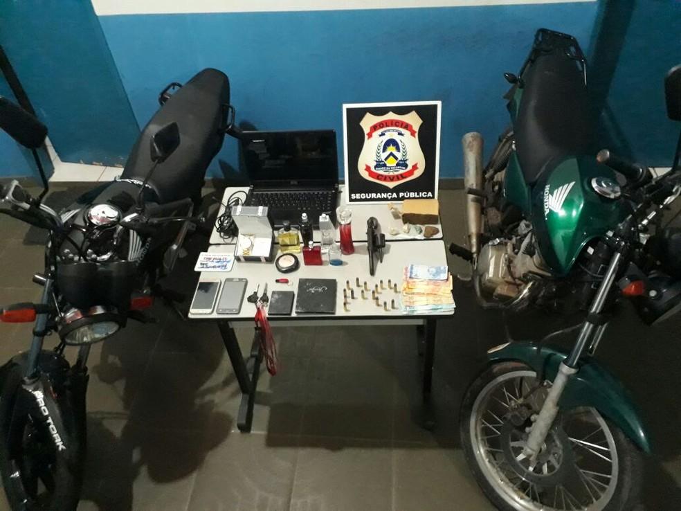 Quadrilha suspeita de assaltar comerciantes é presa (Foto: Divulgação/Polícia Civil)