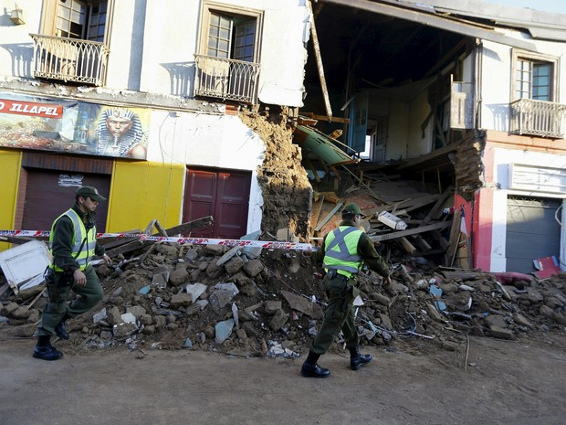 Terremoto causa destruíção no Chile (Foto: Ivan Alvarado/Reuters)