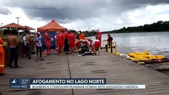 Bombeiros conseguem reanimar homem que se afogou no Lago Norte