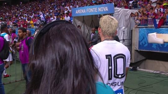 Suspenso, Lucas Lima sai irritado de campo e não quer falar após derrota