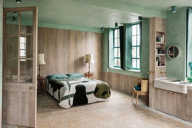 Décor do dia: quarto verde relaxante (Foto: Reprodução)