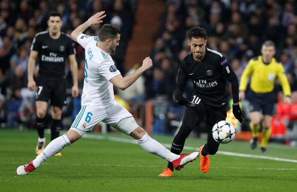 O craque em ação contra o Real Madrid — Foto: Paul Hanna / Reuters