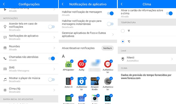 Next Lock Screen permite que o usuário configure as notificações de aplicativos (Foto: Reprodução/Elson de Souza)