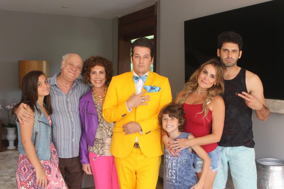 Marcelo Serrado em cena de 'Crô em Família' (Foto: Divulgação)