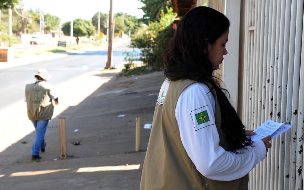 Equipe de combate ao mosquito Aedes aegypti em ação no DF — Foto: Gabriel Jabur/Agência Brasília