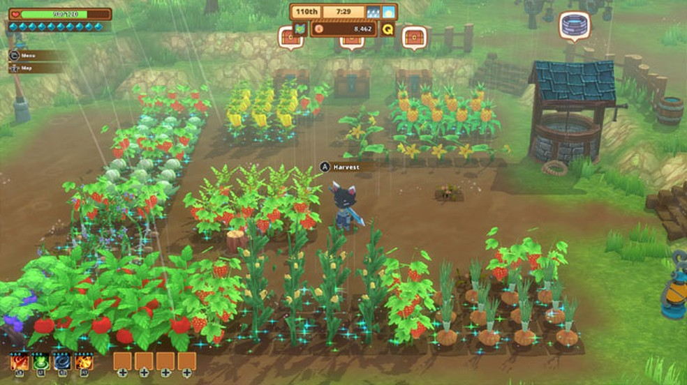 Kitaria Fables mistura os tradicionais simuladores de fazenda com um jogo de RPG e aventura — Foto: Reprodução/Steam