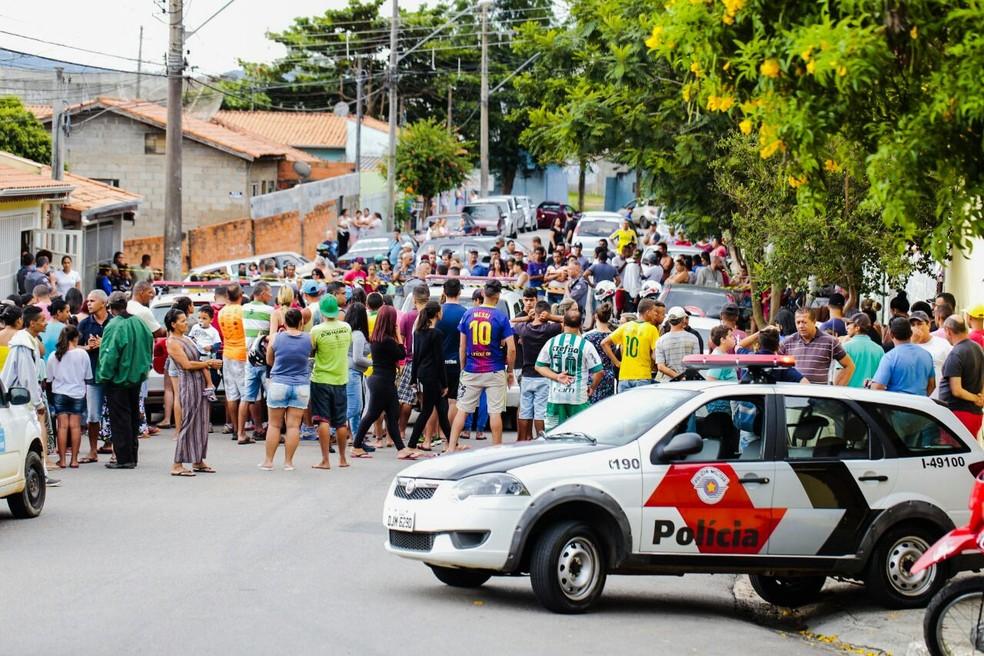 Crime chamou a atenção de muitos moradores em Itatiba (Foto: Charles Soave/Arquivo Pessoal)