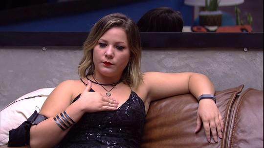Maria Claudia sobre proximidade da Final: 'Coração apertadinho, apertadinho!'
