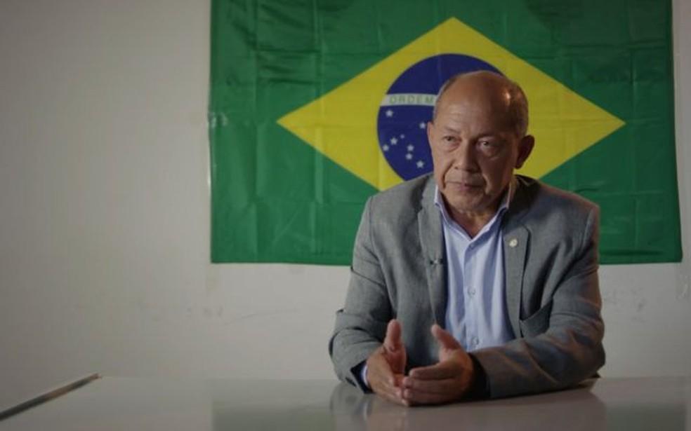 Deputado federal Coronel Chrisóstomo foi apontado por grupo de grileiros como um de seus principais apoiadores em Brasília — Foto: BBC
