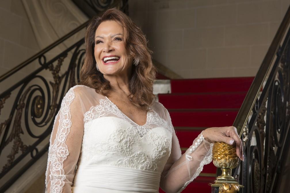 Ieda é só elogios para o noivo: ' Ele tem o dom de me fazer sentir menina. Me passa muita segurança'  — Foto: Artur Menine/ Gshow