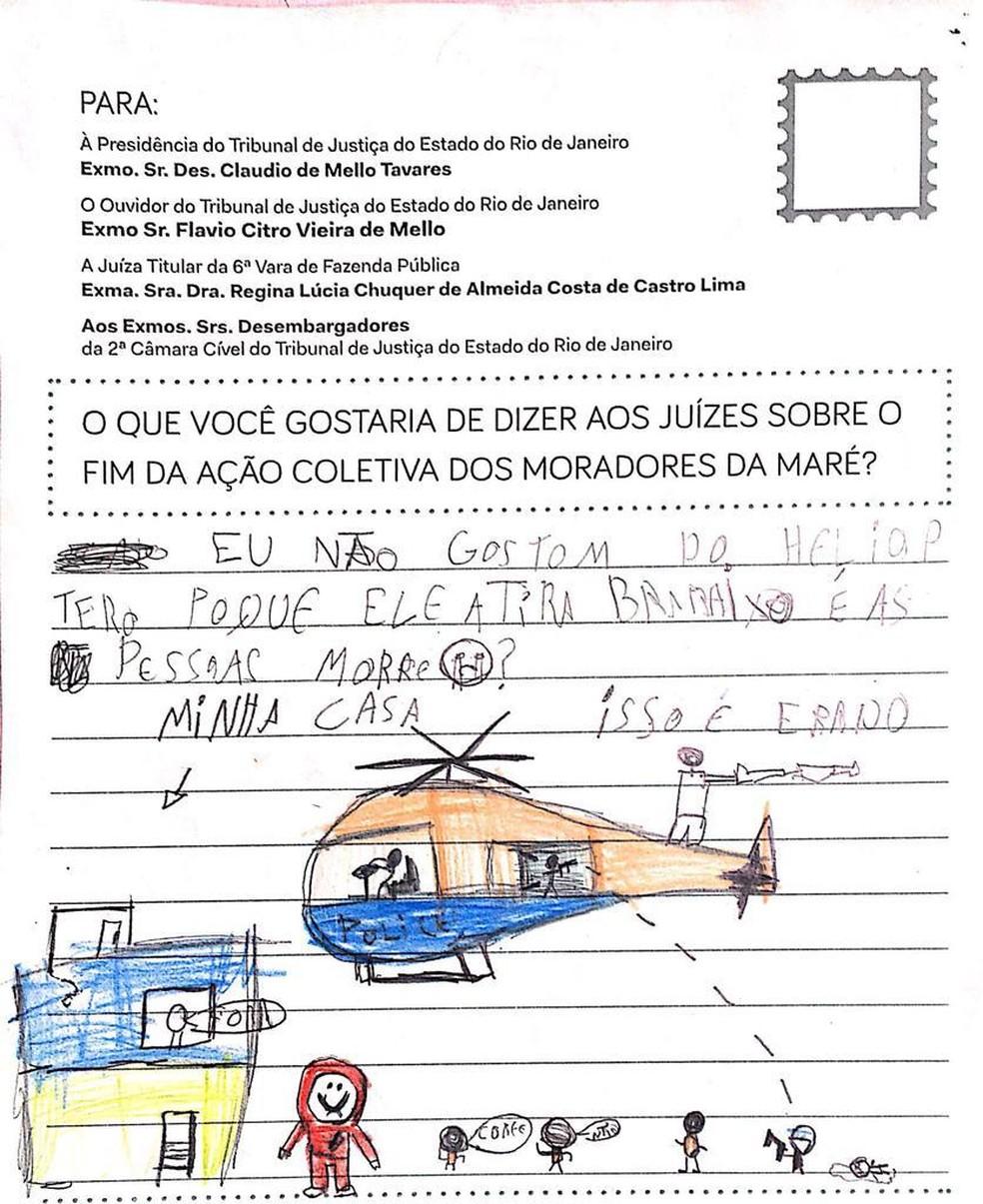 Em cartas, moradores cobram que Justiça reavalie decisão de arquivar ação coletiva — Foto: Reprodução/Redes da Maré