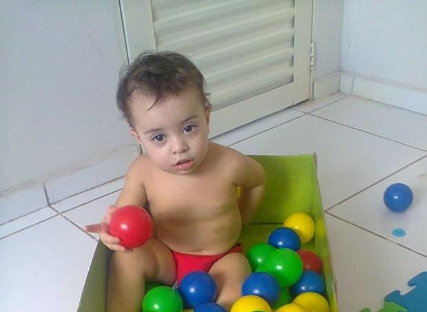 A família descobriu que Davi tinha hemofilia quando ele completou 5 meses (Foto: Arquivo pessoal/ Edna Carla)
