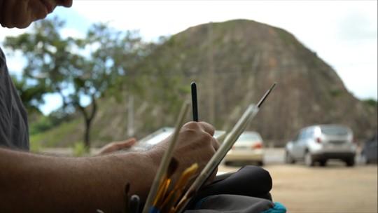 Desenhistas urbanos desbravam novos lugares e registram paisagens capixabas