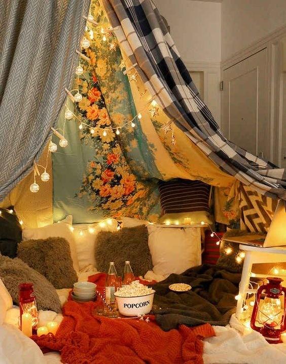 Que tal uma sessão de cinema na barraca de acampamento? (Foto: Anny Meisler)