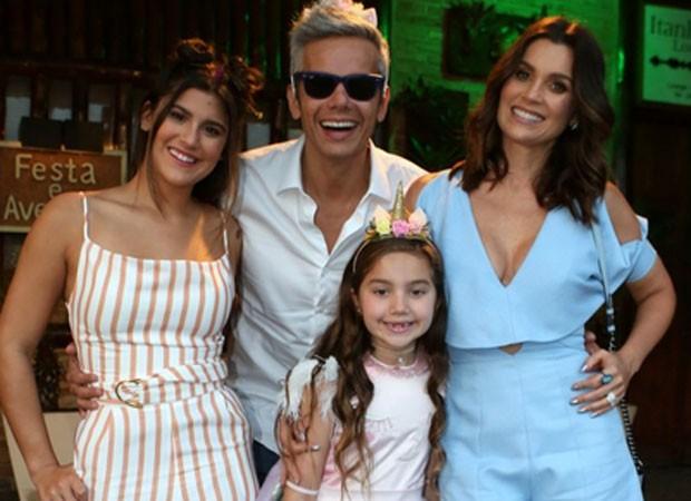 Giulia, Olivia, Otaviano e Flávia (Foto: Agnews)