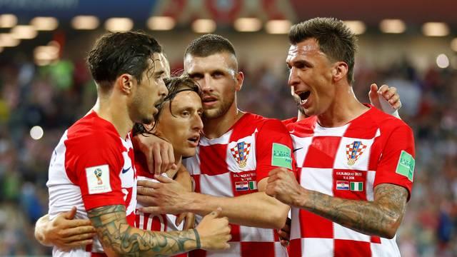 Croácia comemora a vitória em Kaliningrado