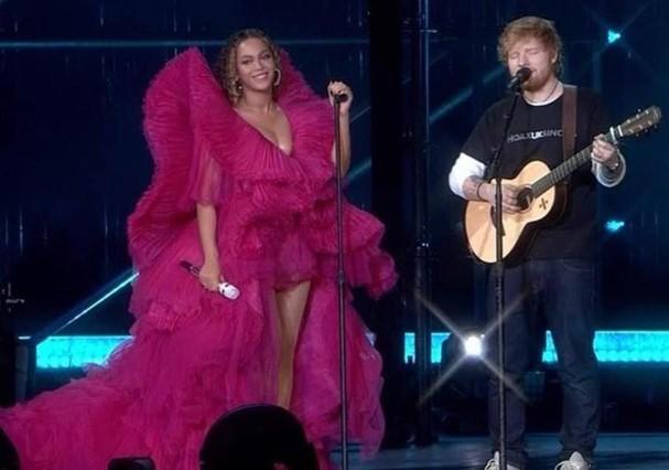 Beyoncé e Ed Sheeran (Foto: Instagram/Reprodução)