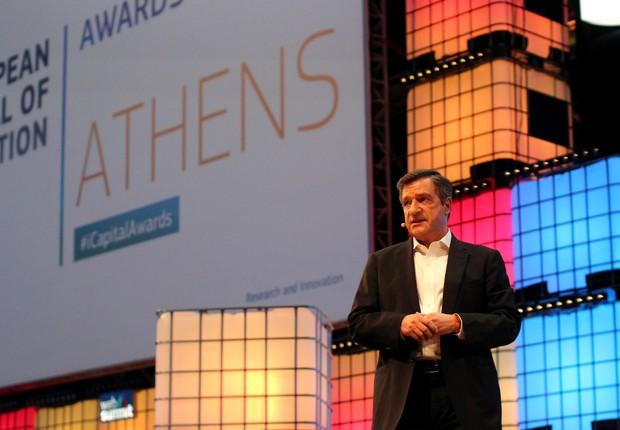 Giorgos Kaminis, prefeito de Atenas. Cidade foi premiada capital da inovação europeia de 2018 (Foto: Divulgação/Web Summit)