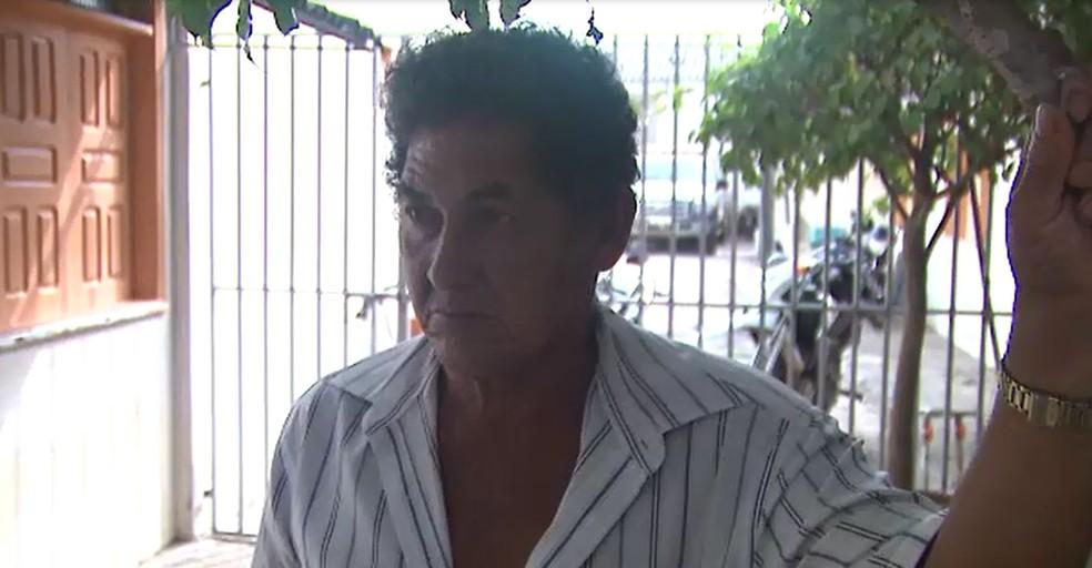 Pai da vítima, Antônio Araújo, acusa o marido da filha de ter cometido o crime (Foto: Reprodução/Rede Amazônica Acre)