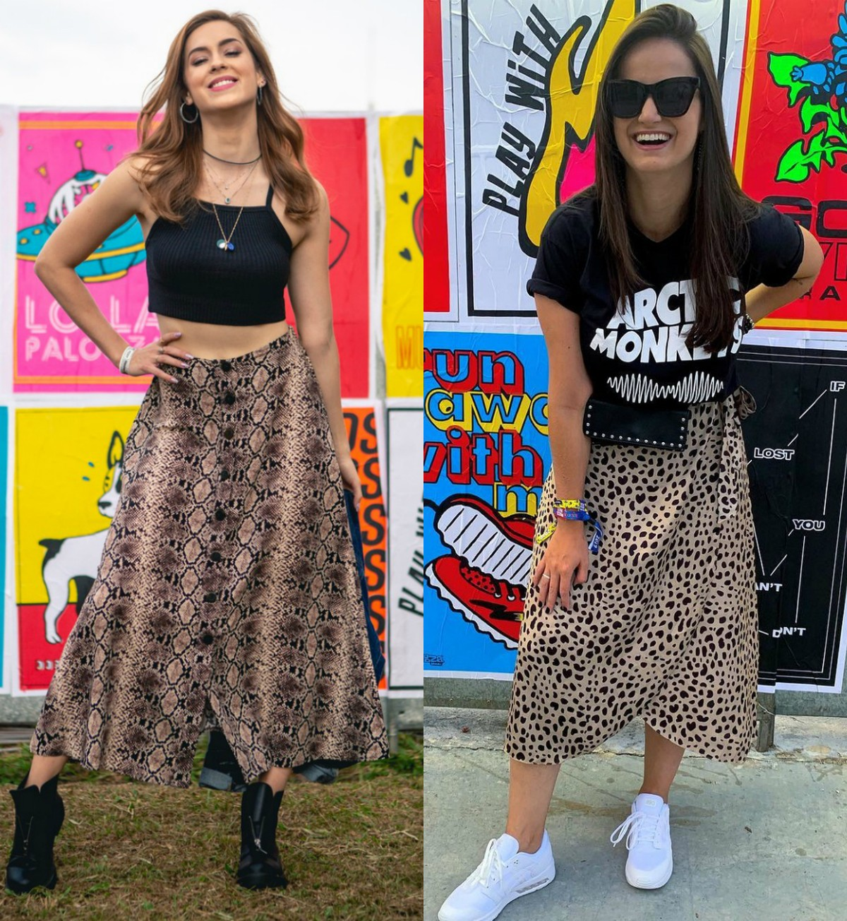 84c73f184 Animal print é tendência nos looks dos famosos no primeiro dia do  Lollapalooza