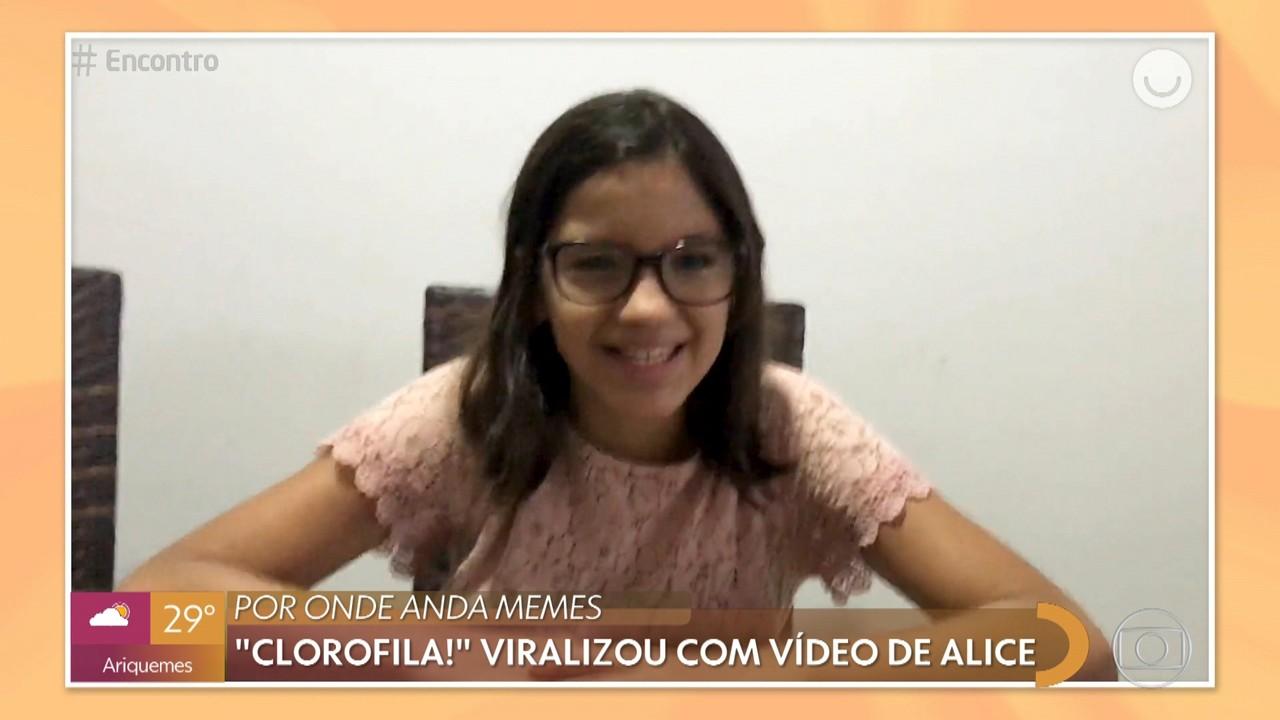 Por onde anda memes: Tati Machado mostra menina que viralizou com vídeo clorofila