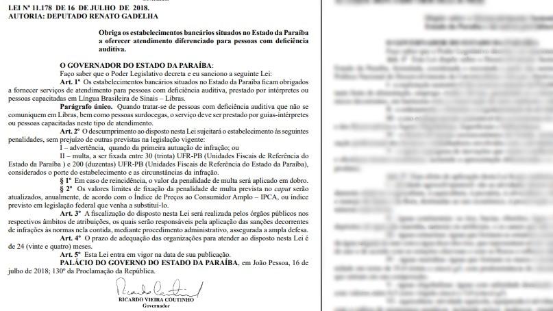 Lei obriga bancos a oferecer intérpretes a pessoas com deficiência auditiva na PB