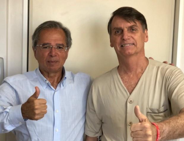 Paulo Guedes e Jair Bolsonaro (Foto: @jairbolsonaro)