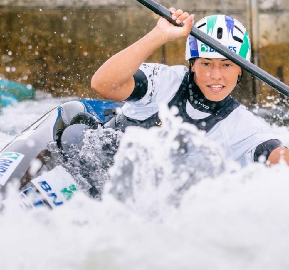Ana Sátila é destaque do Brasil na canoagem (Foto: Slalom Events Kanupark)