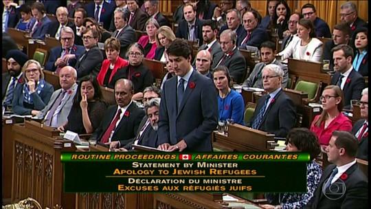 Trudeau pede perdão por Canadá ter se recusado a acolher mais de 900 judeus que fugiam dos nazistas