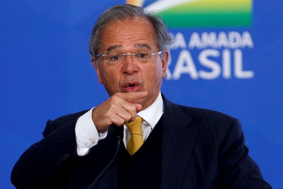 O ministro da Economia, Paulo Guedes — Foto: Adriano Machado/Reuters