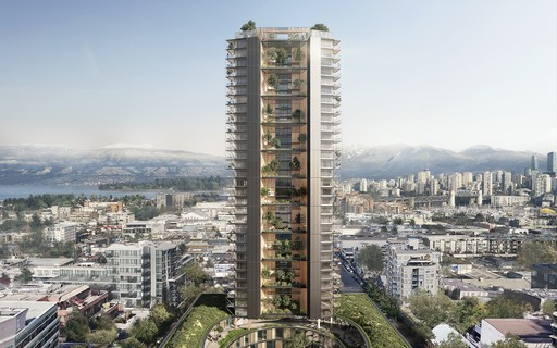 Perkins+Will projeta edifício sustentável que visa reduzir a emissão de carbono na atmosfera