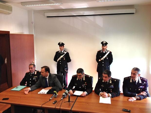 A polícia italiana falou sobre a prisão de Pizzolato nesta quinta-feira (6) em Modena (Foto: Paolo Tomassone/Especial para o G1)