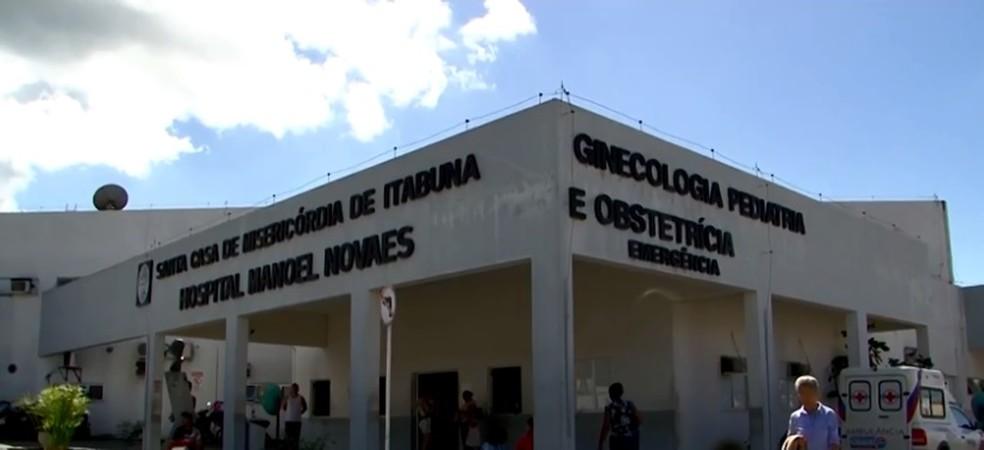Menino está internado no Hospital Manoel Novaes - Santa Casa de Misericórdia de Itabuna — Foto: Reprodução/ TV Santa Cruz