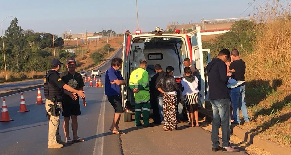 Bebê caiu de cadeirinha em rodovia e foi atropelado em seguida, segundo a PRF (Foto: Eduardo Barbosa/Arquivo pessoal)