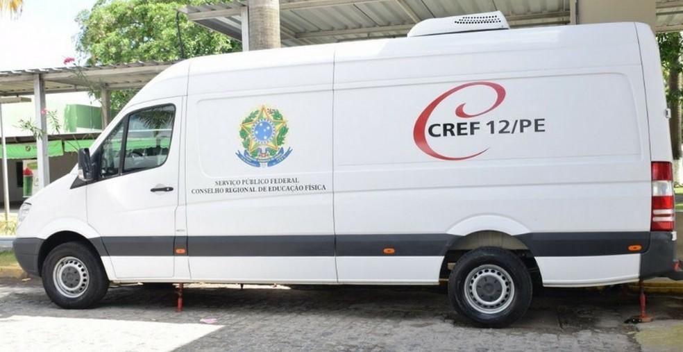 Unidade móvel do CREF12/PE  — Foto: Divulgação/ CREF12/PE