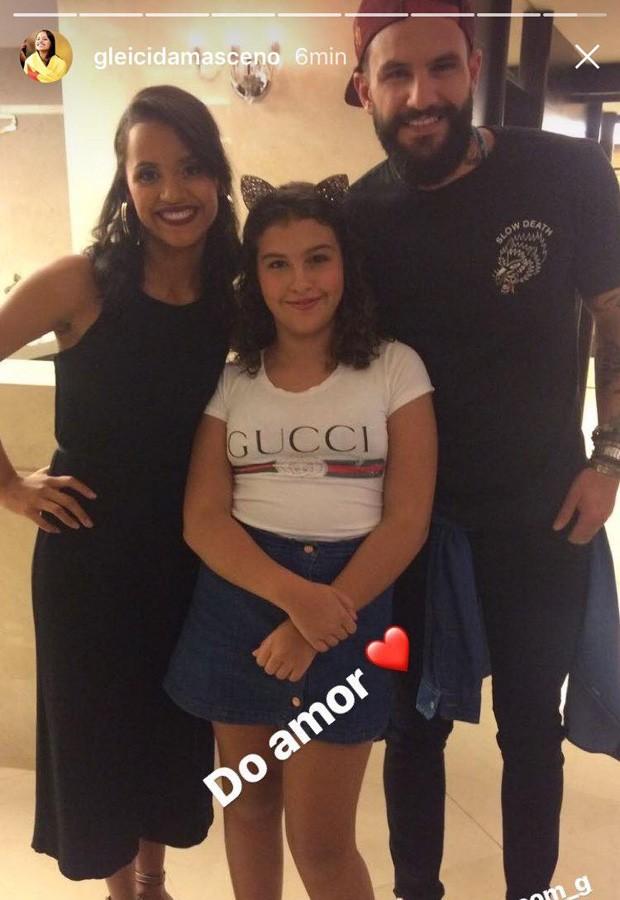 Gleici, Wagner e Giovana (Foto: Reprodução/Instagram)