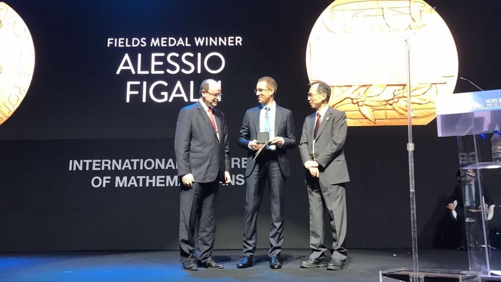 O italiano Alessio Figalli foi um dos vencedores da medalha Fields (Foto: Bruno Albernaz/ G1)
