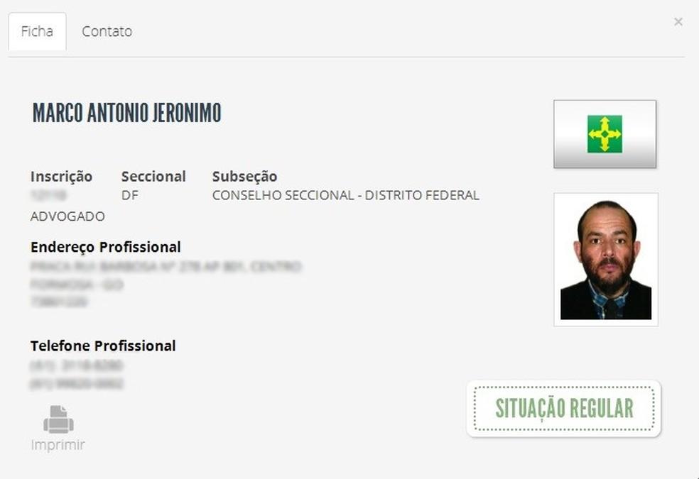 O advogado Marco Antônio Jerônimo. — Foto: Reprodução