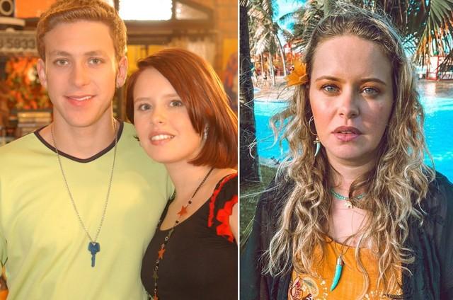"""Sergio Hondjakoff e Mariana Bridi """"Malhação"""" (2004) e ela em fase atual (Foto: Divulgação/TV Globo e Instagram)"""