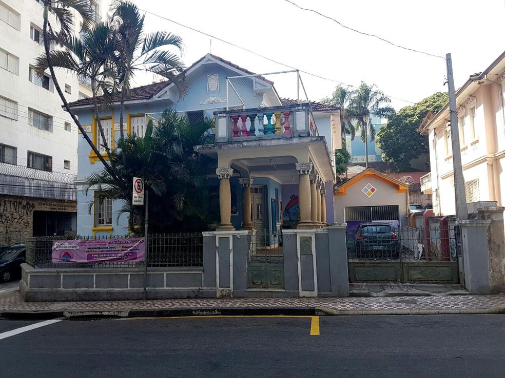 Escola Casinha do Saber, no Centro de Campinas, é alvo de investigação após morte de bebê de 4 meses (Foto: Felipe Boldrini / EPTV)