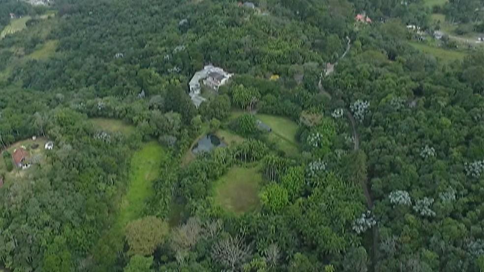 Serra do Itapeti, em Mogi dasCruzes — Foto: Reprodução/TV Diário
