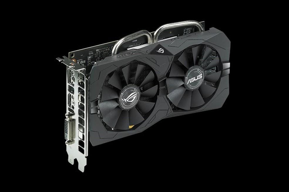 ROG Strix Radeon RX 560 EVO Gaming oferece bom sistema de resfriamento para o chip — Foto: Divulgação/Asus