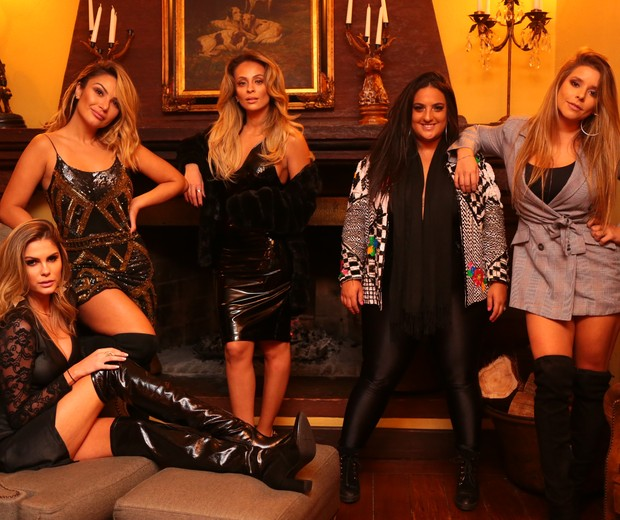 Bárbara Evans, Keh Correia, Tay Gomes, Ju Malaguti e Manu Maia (Foto: Eduardo Alexandre/Divulgação)