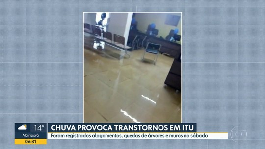 Chuva forte atinge Itu, no interior do estado
