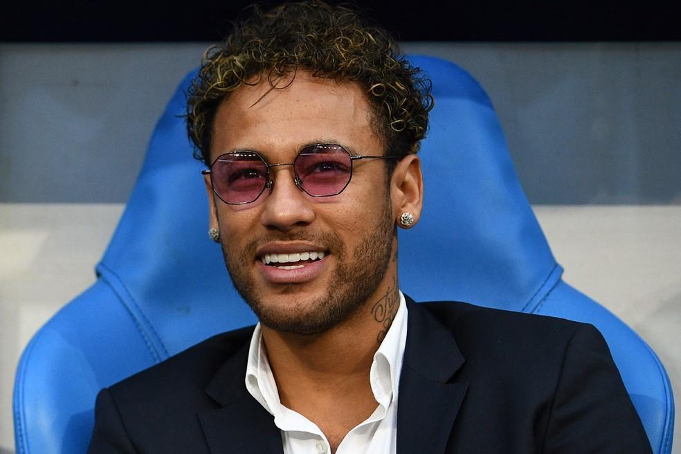 Neymar na final da Copa da França, na últeima terça (Foto: AFP)