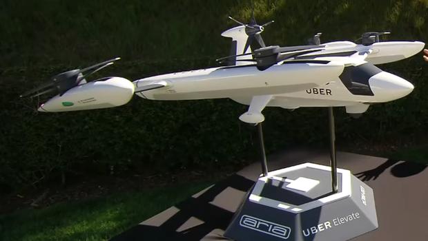 Protótipo do táxi voador do Uber (Foto: Reprodução YouTube)