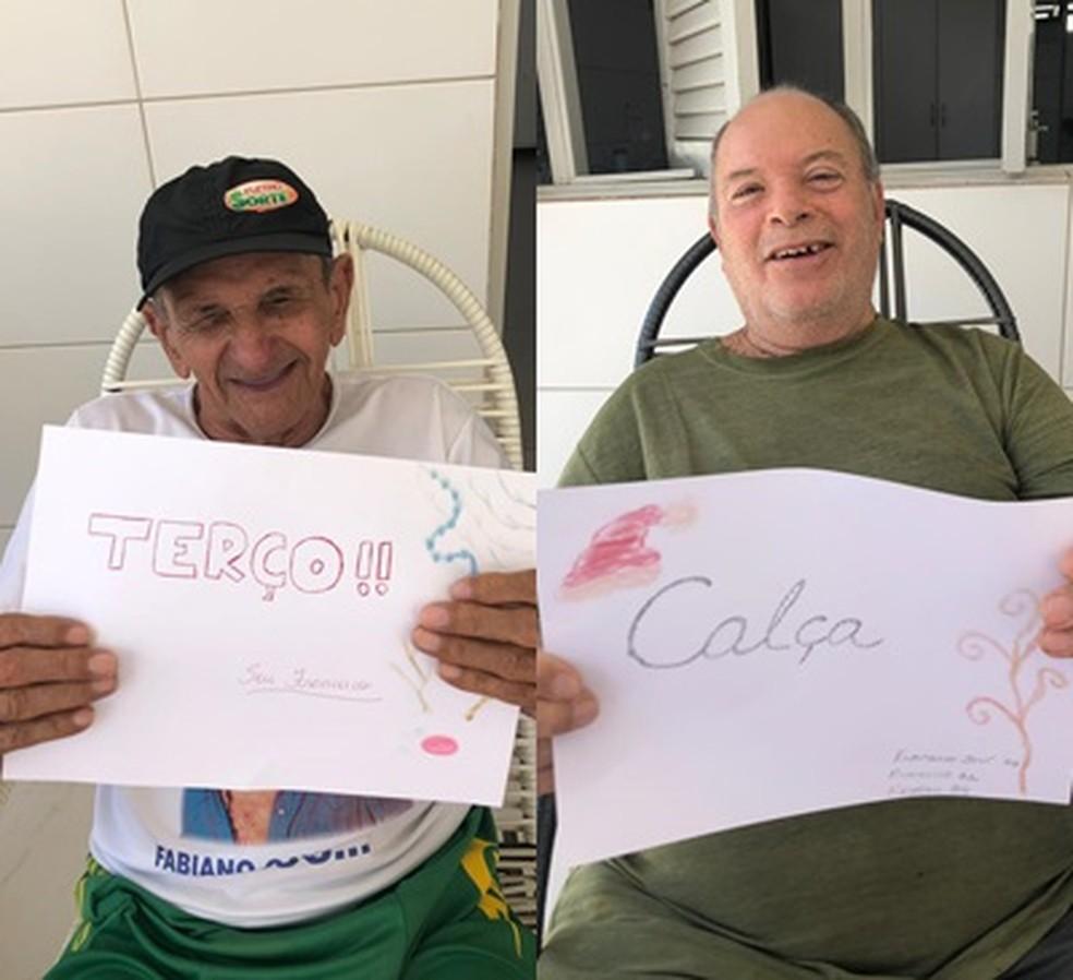 Idosos vivem no Lar dos Idosos Joca Claudino, em Cajazeiras, no Sertão paraibano — Foto: Projeto AndaRisos/Divulgação