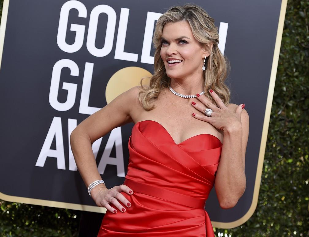 Atriz Missi Pyle chega ao Globo de Ouro 2019 — Foto: Jordan Strauss/Invision/AP